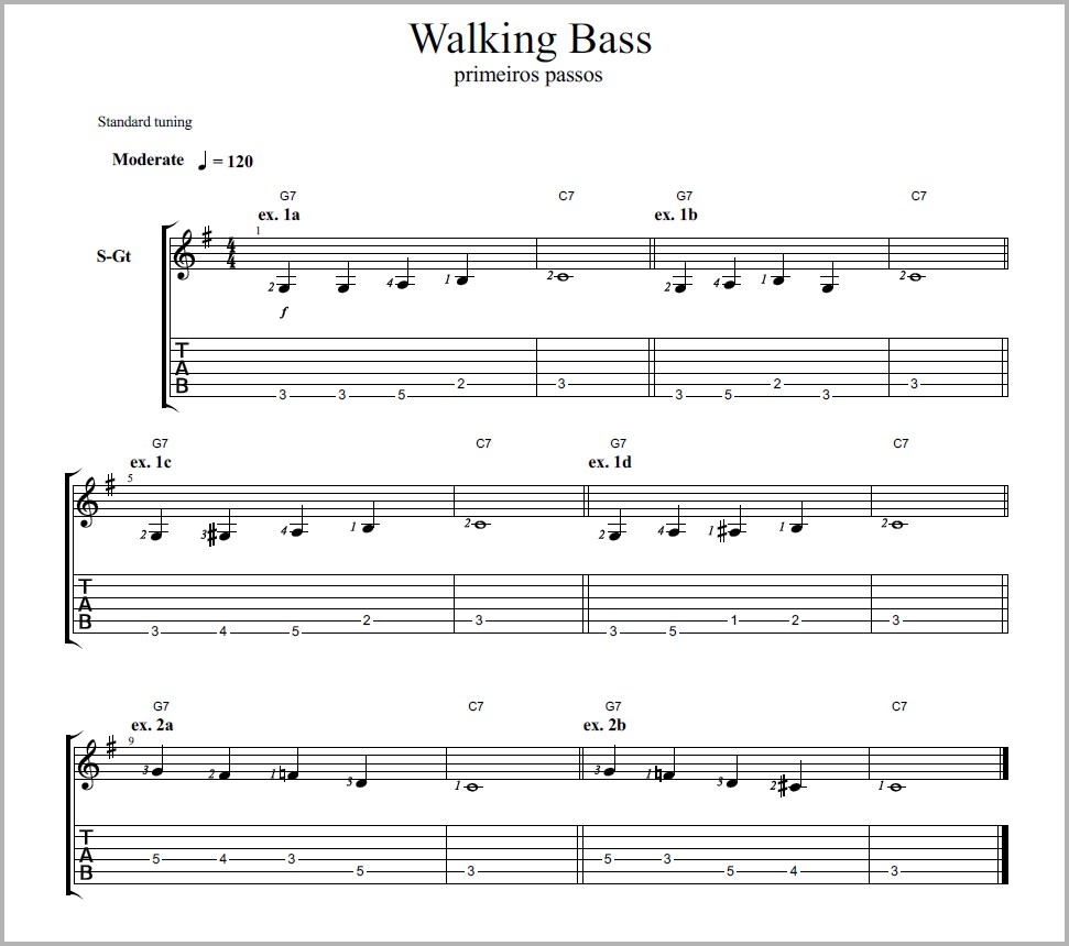 Técnicas - Walking Bass (4/6)